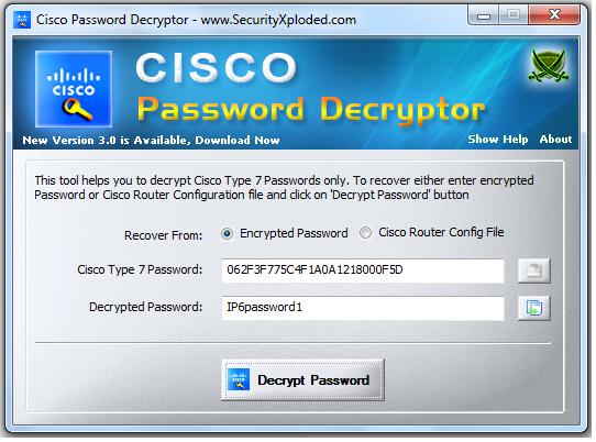Encrypt Type 7 3